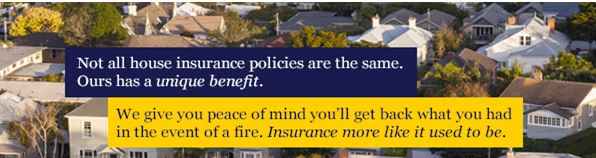 full replacement house insurance cover